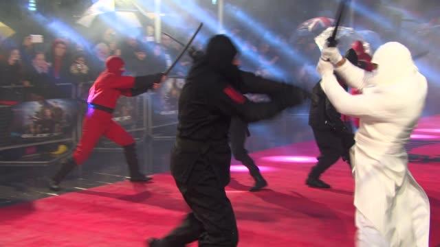 vídeos y material grabado en eventos de stock de at the gi joe: retaliation uk premiere on the 18th of march 2013 - venganza