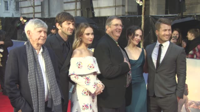 chyron at the guernsey literary and potato peel pie society world premiere at the curzon mayfair on april 9 2018 in london england - tom courtenay stock videos & royalty-free footage