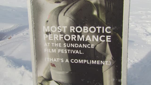 atmosphere at the honda premieres 'living with robots' and live demonstrations of asimo at park city ut - asimo stock videos & royalty-free footage