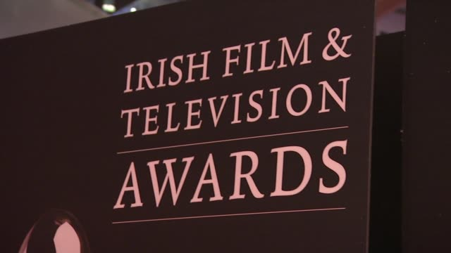 at the iftas at convention centre dublin, ireland on february 11th 2012 - irish film and television awards stock videos & royalty-free footage