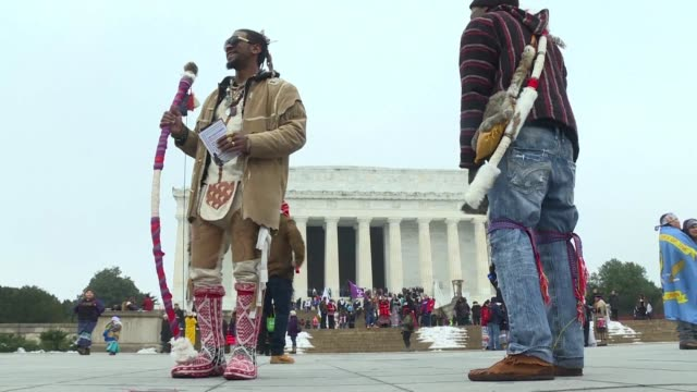 at the indigenous peoples march in washington dc participants from communities across the us say the shutdown and the proposed border wall that... - indigenous culture stock videos & royalty-free footage