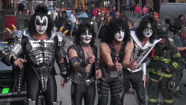 at the 'late show with david letterman' studio in new york, ny, on 10/10/12 - gene simmons stock videos & royalty-free footage