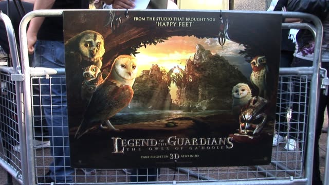 at the legend of the guardians uk premiere atmosphere at odeon west end on october 10 2010 in london england - odeon cinemas stock videos & royalty-free footage
