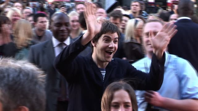 at the legend of the guardians uk premiere jim sturgess at odeon west end on october 10 2010 in london england - odeon cinemas stock videos & royalty-free footage