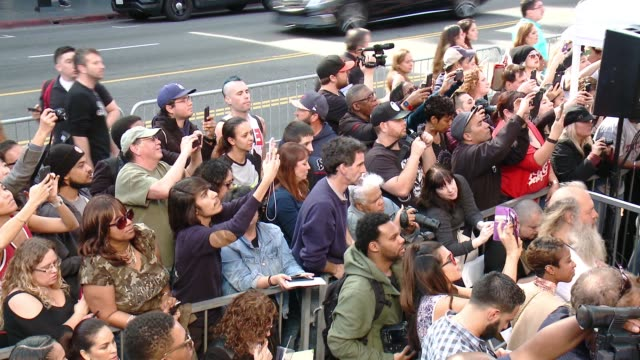 atmosphere at the ll cool j honored with star on the hollywood walk of fame at hollywood walk of fame on january 21 2016 in hollywood california - ll cool j stock videos and b-roll footage
