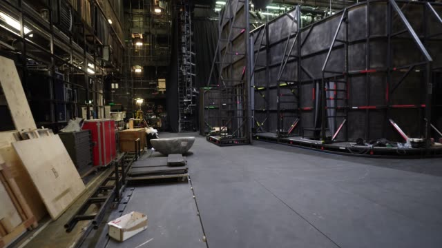 at the london coliseum on june 11, 2020 in london, england. the london coliseum, the largest theatre in london's west end is currently closed along... - spettacolo teatrale video stock e b–roll