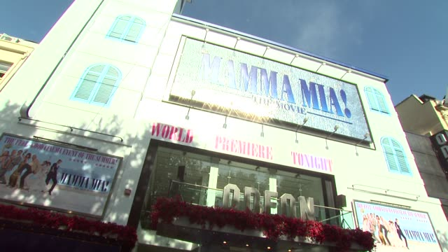 atmosphere at the mamma mia premiere at london - mamma mia stock videos and b-roll footage