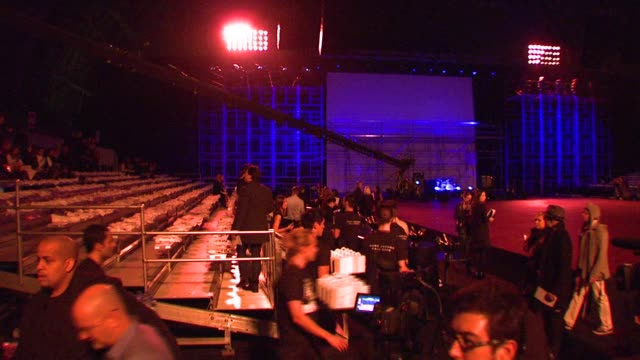 atmosphere at the marc jacobs fall 2008 collection runway show at the armory in new york new york on february 8 2008 - waffenlager stock-videos und b-roll-filmmaterial