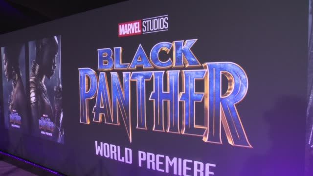 vídeos de stock, filmes e b-roll de atmosphere at the marvel studios' black panther world premiere at dolby theatre on january 29 2018 in hollywood california - estreia