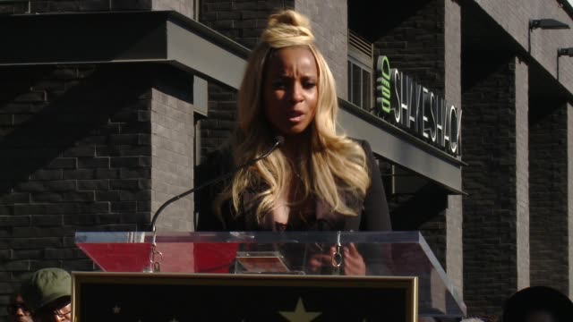 at the mary j. blige hollywood walk of fame star ceremony on january 11, 2018 in hollywood, california. - ceremony stock videos & royalty-free footage