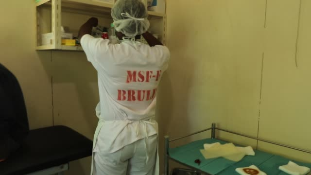 at the médecins sans frontières/doctors without borders drouillard hospital for burn patients on february 12 2018 in portauprince haiti the hospital... - hispaniola stock videos and b-roll footage
