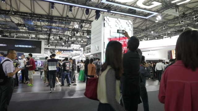 at the mwc shanghai exhibition modeled after a bigger annual industry show in barcelona shanghai china on thursday june 27 2019 - number 5 stock videos & royalty-free footage