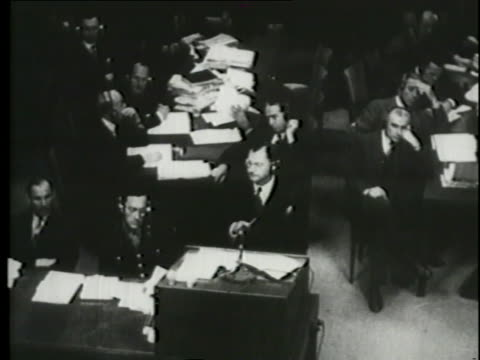 at the nuremberg trials a police investigator of  the reichstag fire states that hermann goering and joseph goebbels were instrumental in orchestrating the fire to strengthen the nazi party. - hermann goering stock videos & royalty-free footage