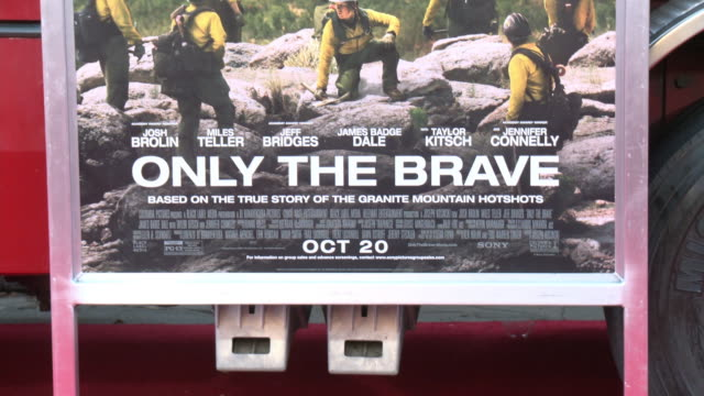 atmosphere at the only the brave premiere at regency village theatre on october 08 2017 in westwood california - only the brave 2017 film stock videos & royalty-free footage