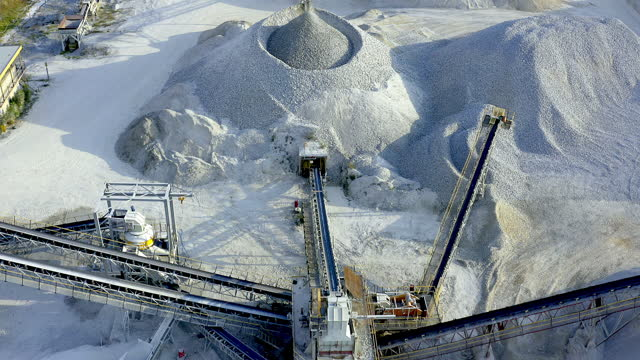 at the peak of mineral processing - crane construction machinery stock videos & royalty-free footage