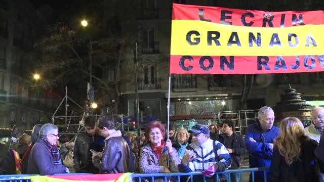 at the popular party headquarters in madrid a few dozen supporters gather but their mood is far from jubilant - dozen stock videos & royalty-free footage