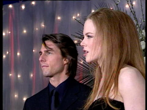 at the premiere of eyes wide shut in sydney on august 8th 1999 tom cruise nicole kidman on august 08 1999 in sydney australia - nicole kidman stock videos & royalty-free footage