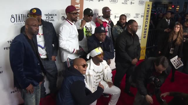 at the premiere of the documentary wu tang clan: of mics and men at the tribeca film festival director sacha jenkins says the hip hop supergroup's... - documentary film stock videos & royalty-free footage