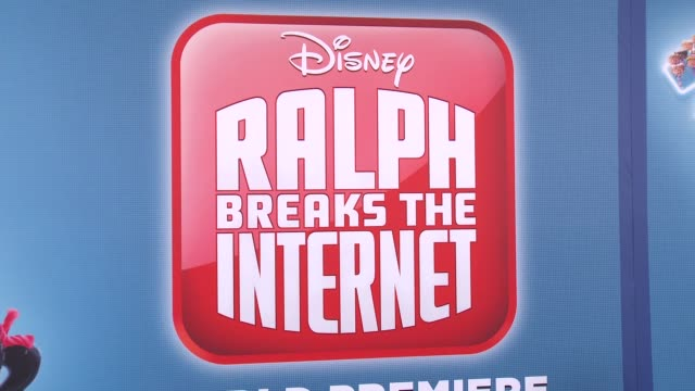 """at the """"ralph breaks the internet"""" world premiere at the el capitan theatre on november 05, 2018 in hollywood, california. - el capitan theatre stock videos & royalty-free footage"""