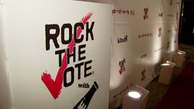 at the rock the vote teams up with society nationwide launch with christina aguilera at kitson in beverly hills, california on november 13, 2007. - rock the vote stock-videos und b-roll-filmmaterial