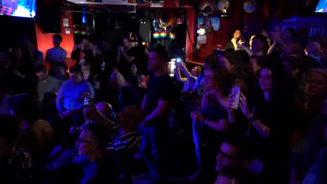 event evening at the stonewall inn on june 14 2019 in new york city - inn stock videos & royalty-free footage