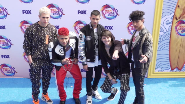 cnco at the teen choice 2019 on august 11 2019 in hermosa beach california - annual teen choice awards stock videos & royalty-free footage