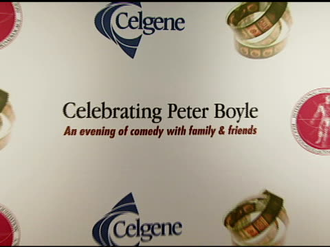 atmosphere at the the international myeloma foundation hosts 'celebrating peter boyle' at the wilshire ebell theater in los angeles california on... - ウィルシアーエベル劇場点の映像素材/bロール