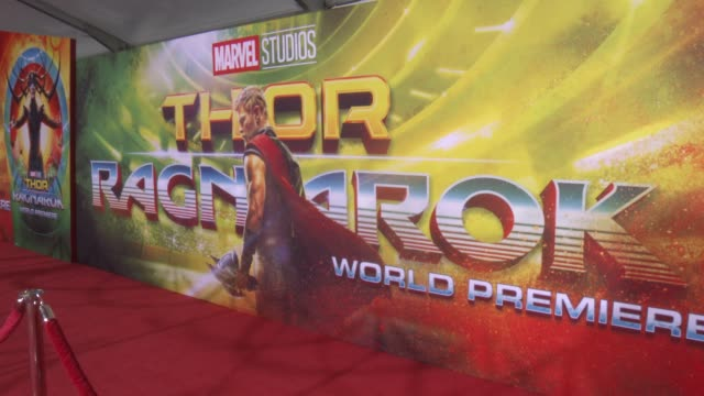 atmosphere at the thor ragnarok premiere at the el capitan theatre on october 10 2017 in hollywood california - thor: ragnarok stock videos & royalty-free footage