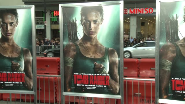 ATMOSPHERE at the 'Tomb Raider' Premiere at TCL Chinese Theatre on March 12 2018 in Hollywood California