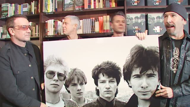 U2 at the U2 Signs Copies of Their New Book 'U2 by U2' at Barnes Noble Union Square in New York New York on September 26 2006