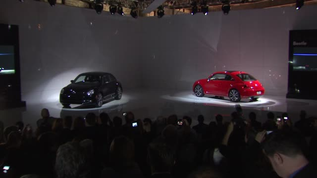 atmosphere at the us reveal of the 21st century volkswagen beetle at new york ny - invertebrate stock videos and b-roll footage