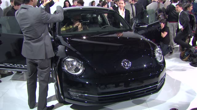 ATMOSPHERE at the US Reveal Of The 21st Century Volkswagen Beetle at New York NY