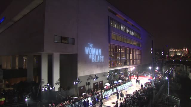 at the woman in black world premiere at the royal festival hall on january 24, 2012 in london, england. - royal festival hall stock videos & royalty-free footage