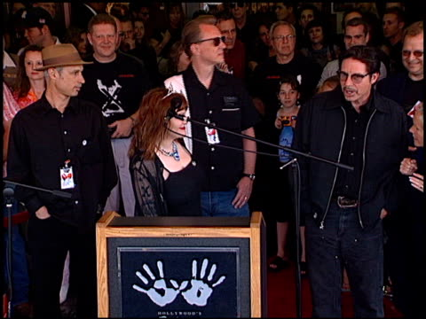 X at the X Rockwalk at Guitar Center in Hollywood California on June 25 2002