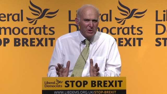 at their final major event before thursday's eu election the liberal democrats call on voters to stand firm against the rise of xenophobia populism... - populism stock videos and b-roll footage