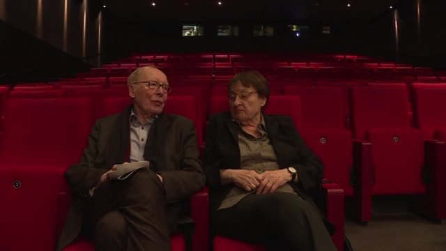 at this week's berlin film festival erika and ulrich gregor now in their 80s are absolute fixtures the couple's love was born in a cinema in 1950s... - week stock videos and b-roll footage