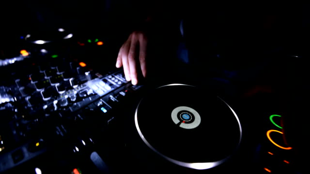 dj at turntable - disco dancing stock videos & royalty-free footage