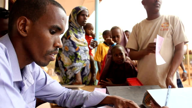 at UN office Refugees being registered on July 30 2011 in Dadaab Kenya