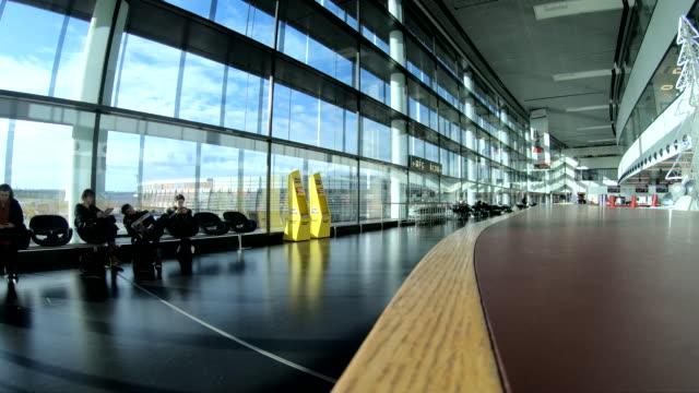 pov at vienna airport schwechart - vienna stock videos & royalty-free footage