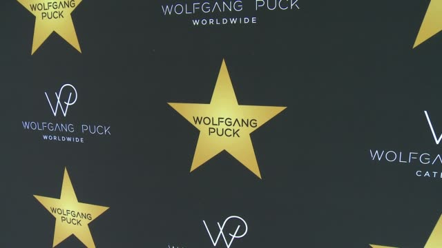 at wolfgang puck star ceremony celebration in los angeles, ca 4/26/17 - ウォルフギャング パック点の映像素材/bロール