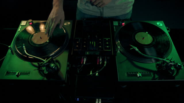 dj at work - record player stock videos & royalty-free footage