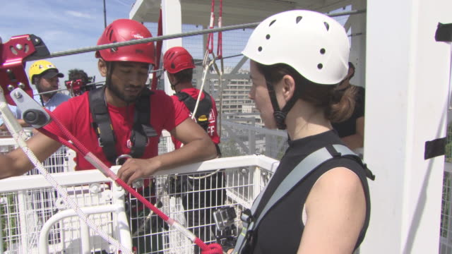 BROLL at Zip Wire Opens On London Southbank on July 18 2017 in London England