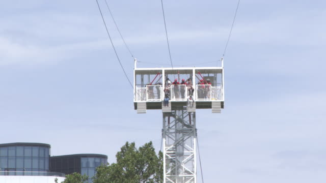 at zip wire opens on london southbank on july 18, 2017 in london, england. - イベントまとめ動画点の映像素材/bロール