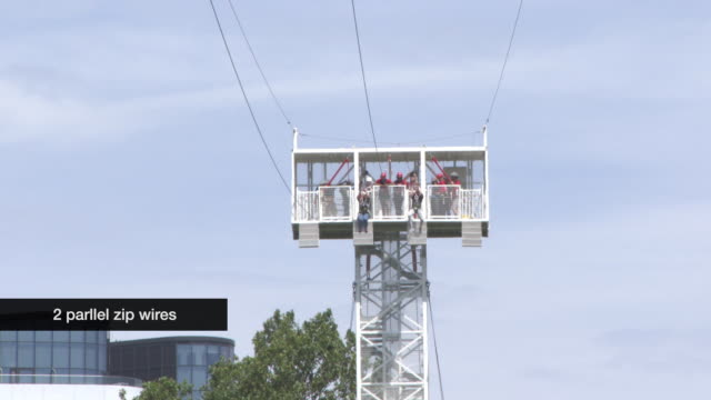 CYHRON at Zip Wire Opens On London Southbank on July 18 2017 in London England