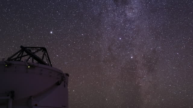 atacam desert night sky - observatory stock videos & royalty-free footage