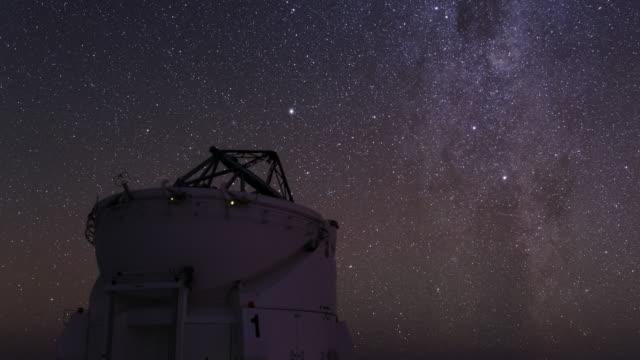 atacam desert night sky - cerro paranal stock videos and b-roll footage
