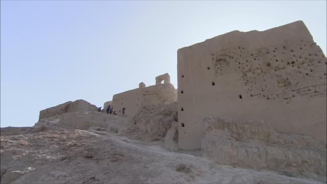 WS LA Atashkadeh Fire Temple against clear blue sky, Iran