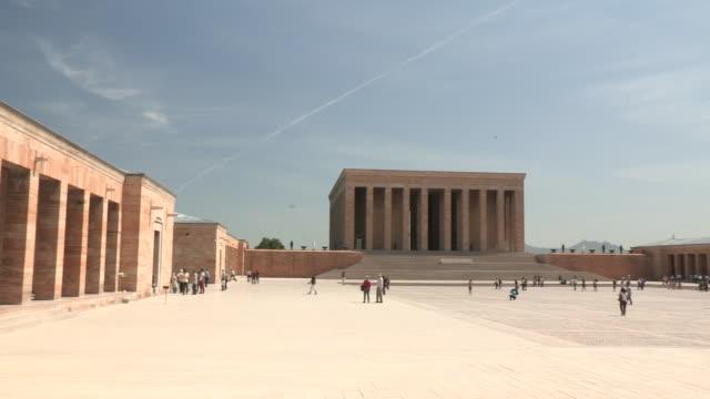 ataturk memorial and plaza, ankara, turkey - ankara stock videos and b-roll footage