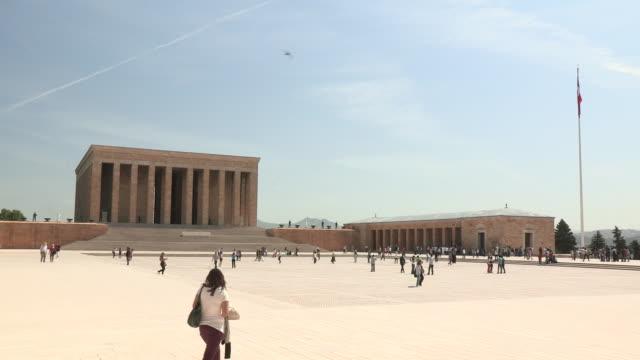 ataturk memorial mausoleum and plaza, ankara, turkey - ankara stock videos and b-roll footage