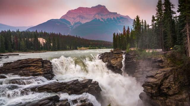 athabasca falls - athabasca falls stock videos & royalty-free footage